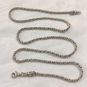 "Ann King 24"" Silver Chain Necklace"